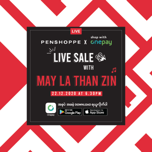 Penshoppe x Onepay live sale event - exclusive discount for Onepay users